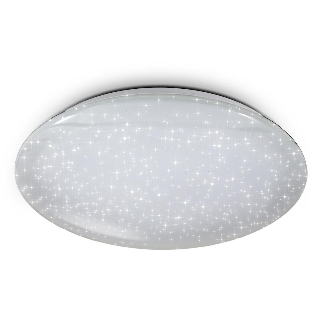 B.K.Licht LED Deckenleuchte, LED-Board, Warmweiß-Neutralweiß-Tageslichtweiß, Smart Home Deckenlampe LED Sternenlicht Leuchte dimmbar 40W Glitzer-Lampe WiFi