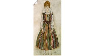Artland Wandbild »Edith Schiele. 1915.«, Frau, (1 St.), in vielen Größen & Produktarten - Alubild / Outdoorbild für den Außenbereich, Leinwandbild, Poster, Wandaufkleber / Wandtattoo auch für Badezimmer geeignet kaufen