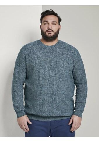 TOM TAILOR Men Plus V - Ausschnitt - Pullover »Strukturierter Strickpullover« kaufen