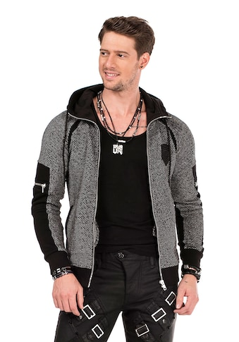 Cipo & Baxx Strickjacke, in Tweed-Optik kaufen