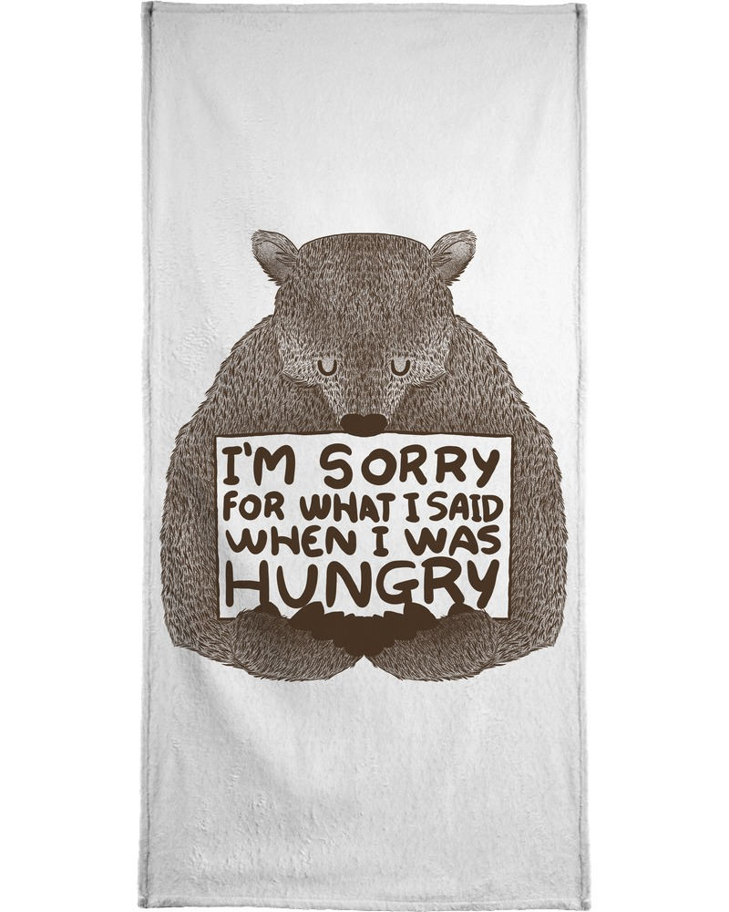 Handtuch I´m Sorry For What I Said When I Was Hungry Juniqe Preisvergleich