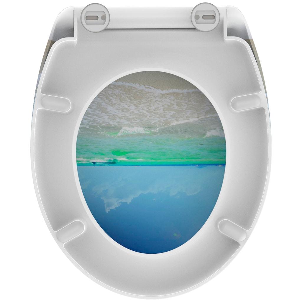 welltime WC-Sitz »Beach«, hochwertiger abnehmbarer Premium-Toilettendeckel mit Absenkautomatik, Bruchsicher und kratzfest, mit Schnellverschluss, geeignet für alle handelsüblichen WC's