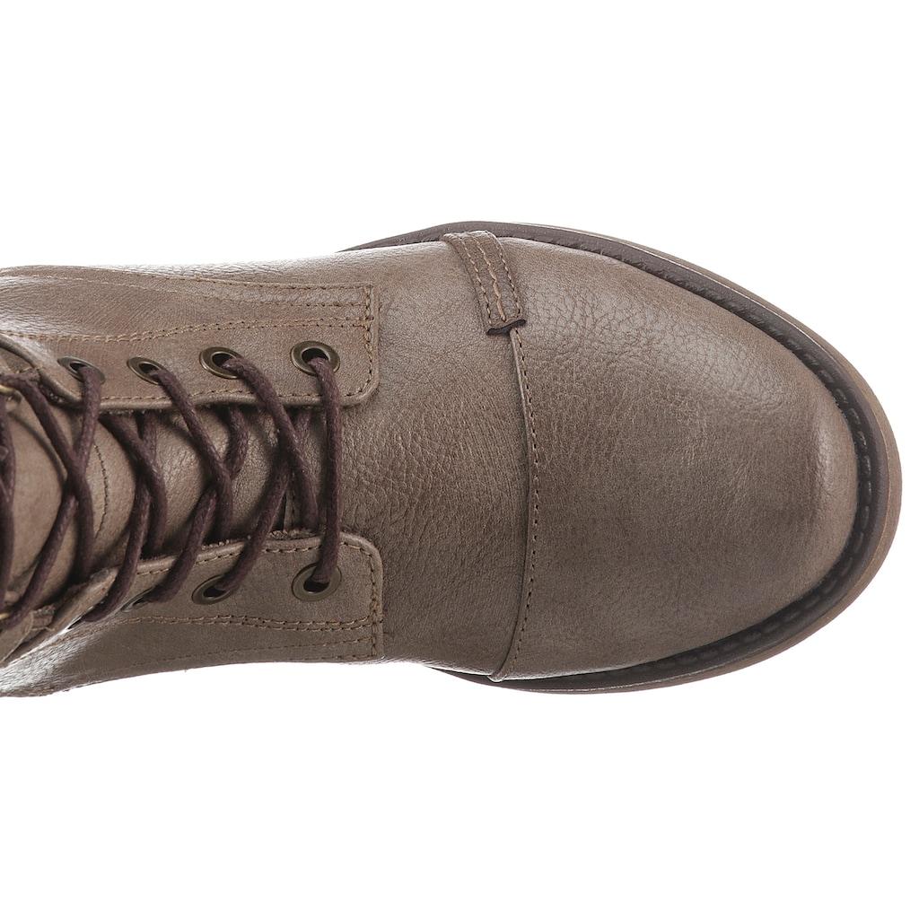 Mustang Shoes Schnürstiefel, mit praktischem Innenreißverschluss