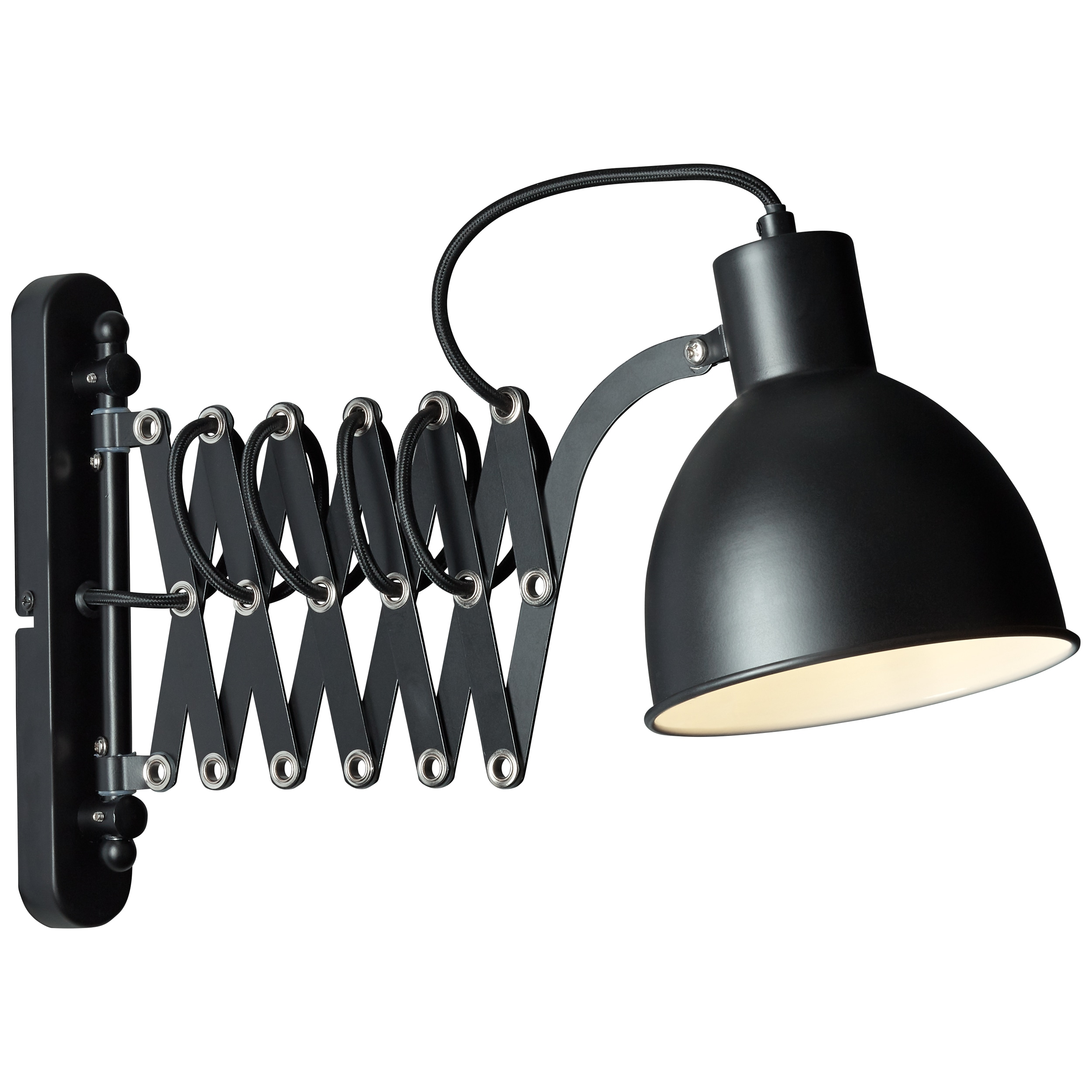Brilliant Leuchten Sandra 2 Wandleuchte schwarz matt