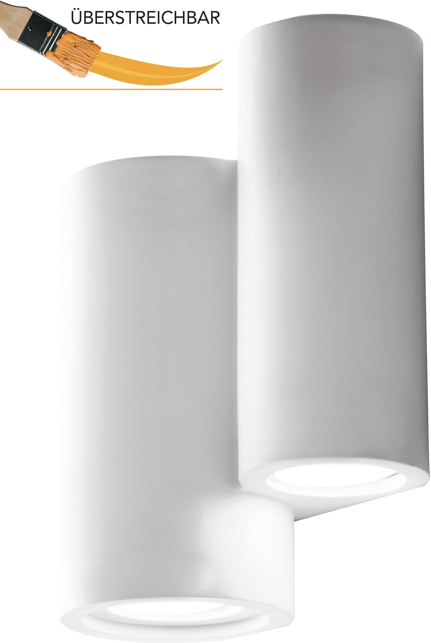 LUCE Design Wandleuchte I-BANJIE-AP4, GU10, 1 St., Überstreichbar