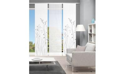 Vision Schiebegardine »GRASIL 3er SET«, Bambus-Optik, Digital bedruckt kaufen