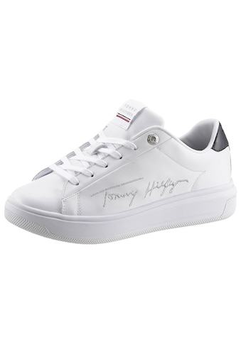 TOMMY HILFIGER Plateausneaker »SIGNATURE TOMMY LEATHER CUPSOLE« kaufen