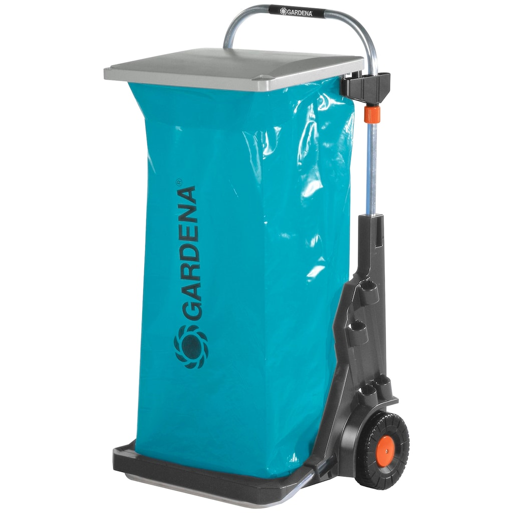 GARDENA Müllsackständer »Gartenmobil, 0232-20«, fahrbar, aus Aluminium, für 120 Liter