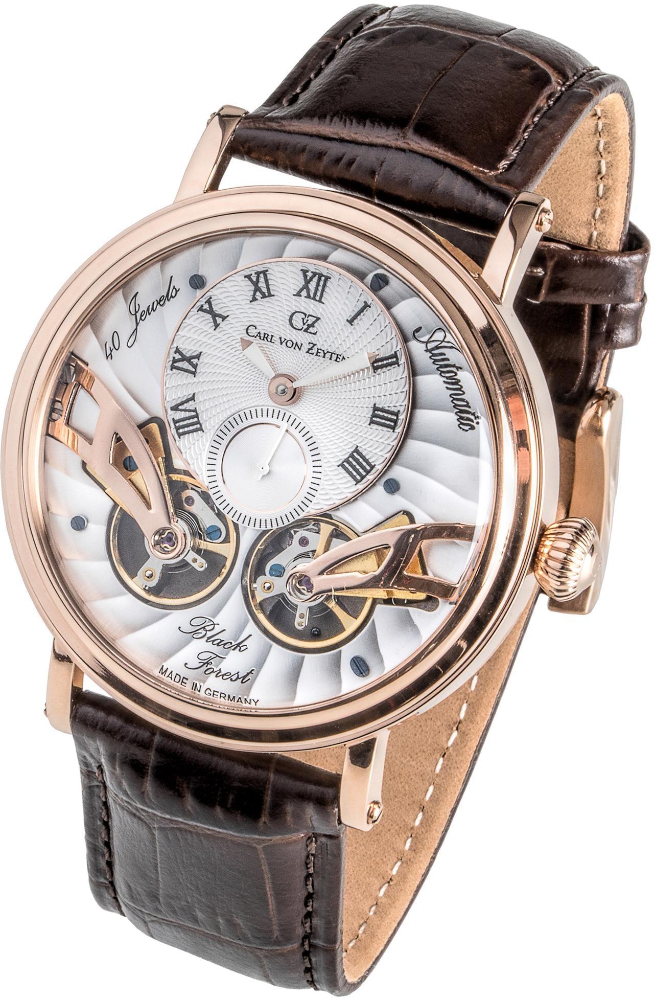 Carl von Zeyten Automatikuhr Black Forest CVZ0017RWH | Uhren > Automatikuhren | Braun | Carl Von Zeyten