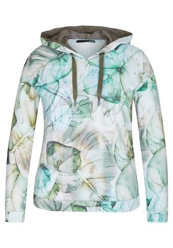 LeComte Kapuzensweatshirt, mit exotischem Muster und Strass-Steinen kaufen