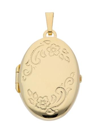 Adelia´s Kettenanhänger »585 Gold Medaillon Anhänger«, Goldschmuck für Damen kaufen