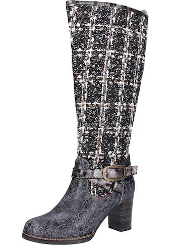 LAURA VITA High-Heel-Stiefel »Leder/Textil« kaufen