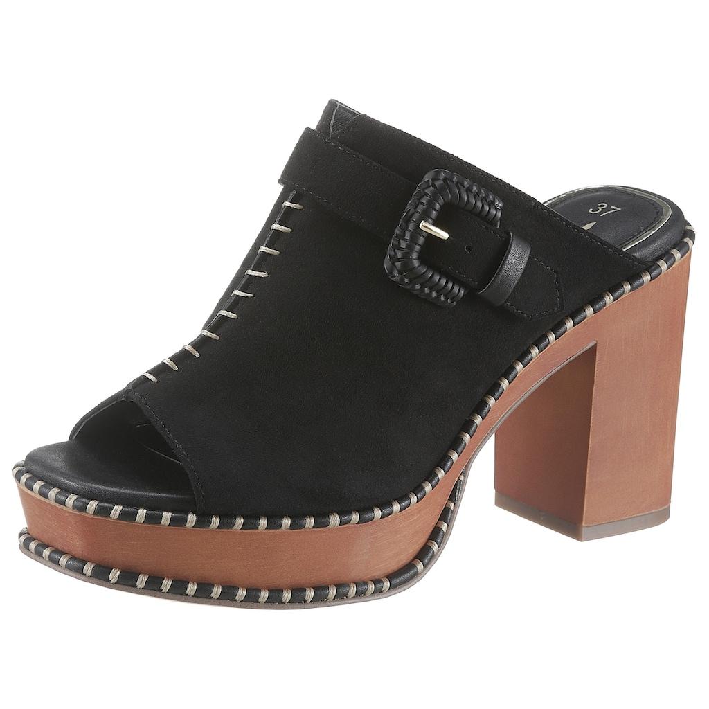 Tamaris High-Heel-Pantolette »Claudie«, im trendigen Seventies-Look