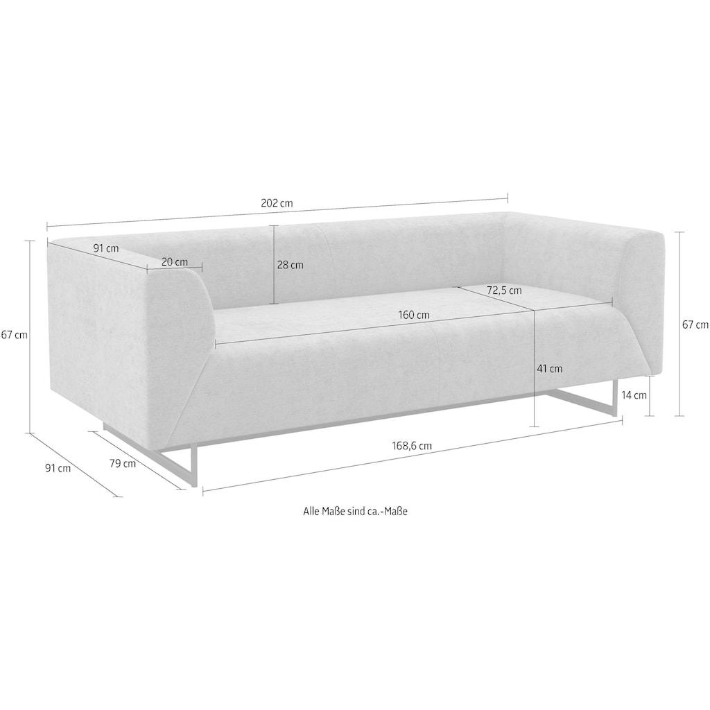 machalke® 2-Sitzer »wedge«, mit GRATIS Ledertasche