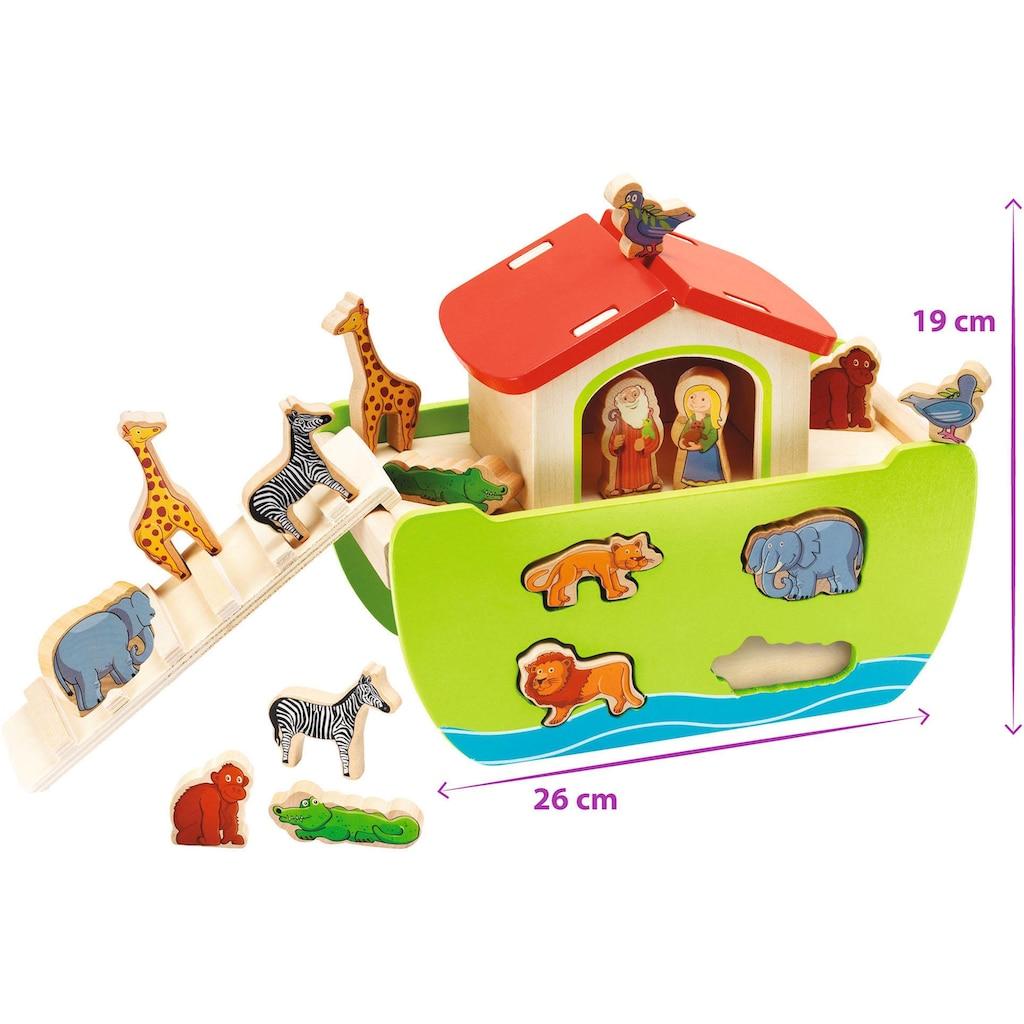 Eichhorn Steckspielzeug »Arche Noah«, mit abnehmbarem Dach