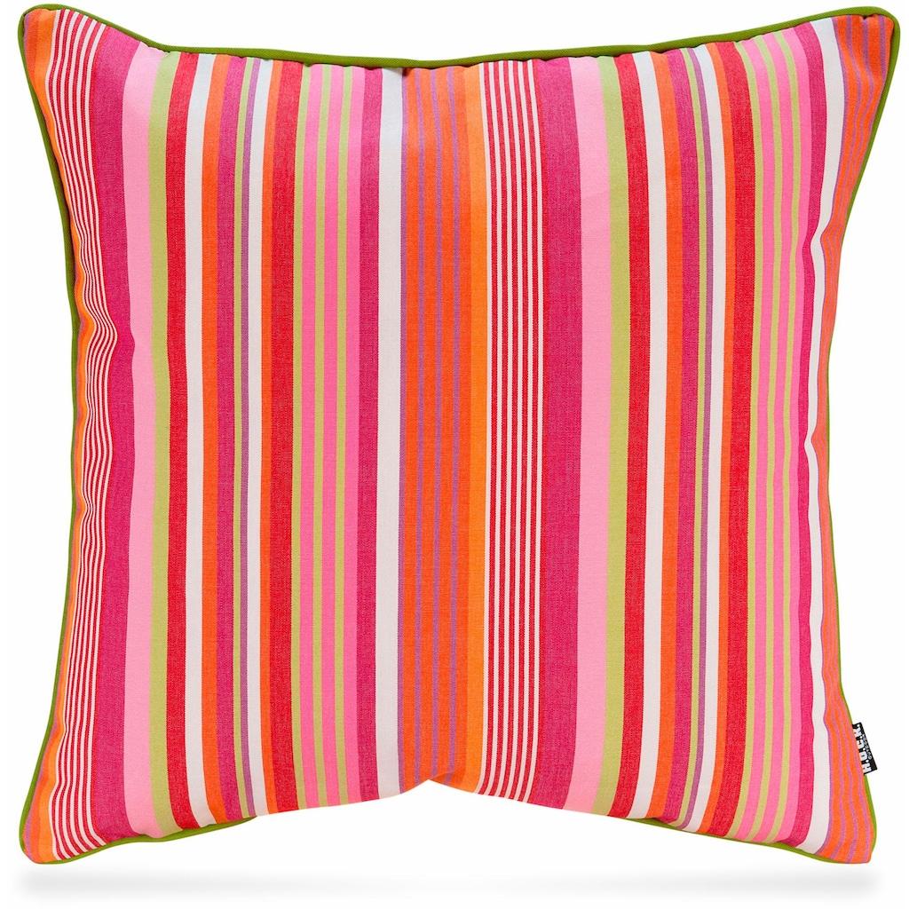 H.O.C.K. Dekokissen »Yucatan Stripes«, mit attraktivem Streifendesign