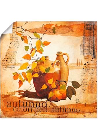 Artland Wandbild »Italienisches Herbstlaub«, Vasen & Töpfe, (1 St.), in vielen Größen... kaufen