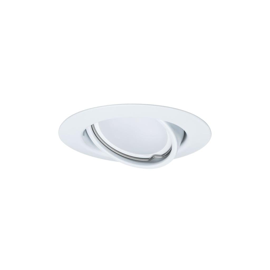 Paulmann LED Einbaustrahler »Base rund 3x5W Weiß matt schwenkbar«, 3 St., Warmweiß
