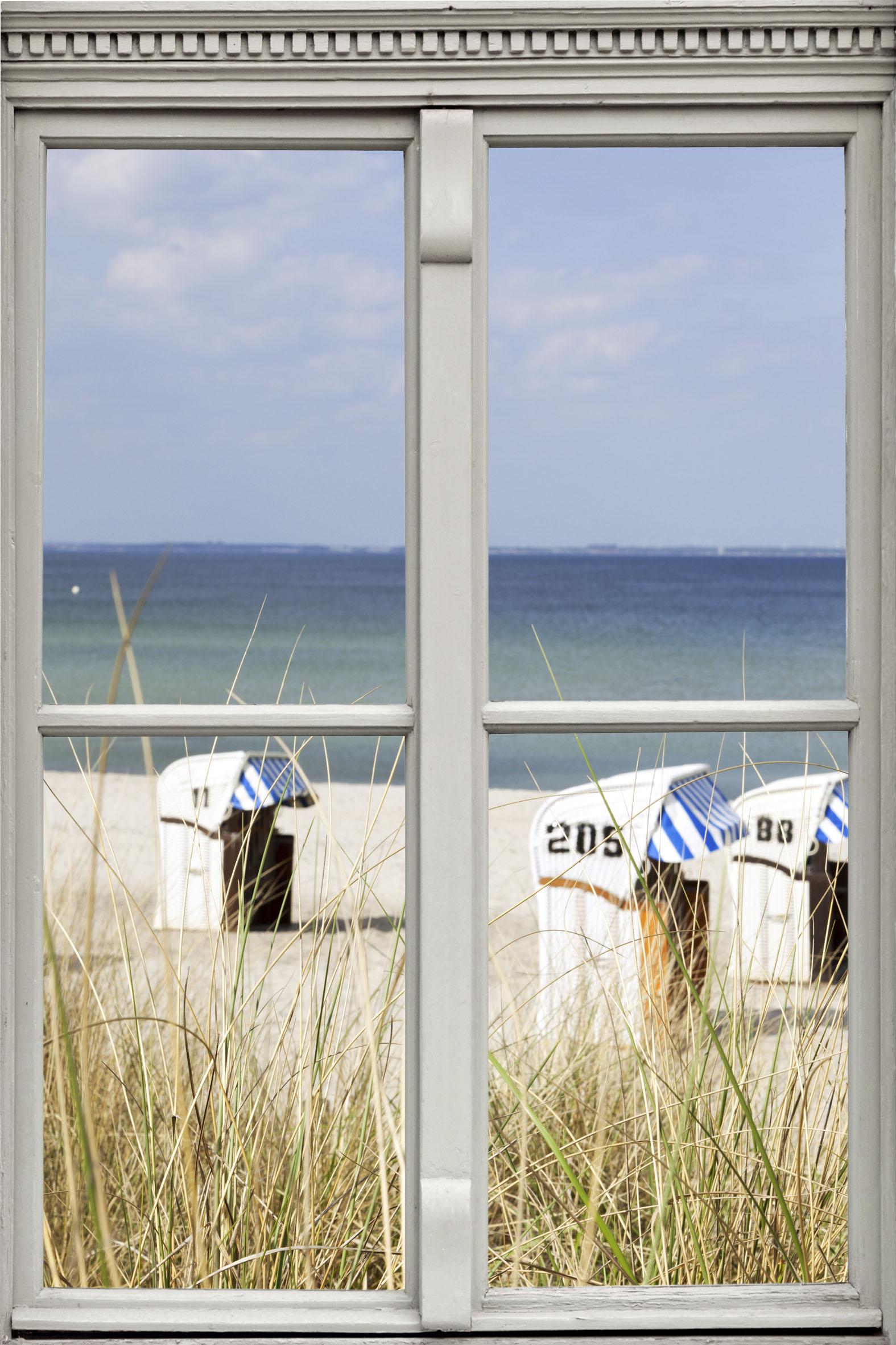 queence Wandsticker Strandkörbe blau Wandtattoos und Wohnaccessoires