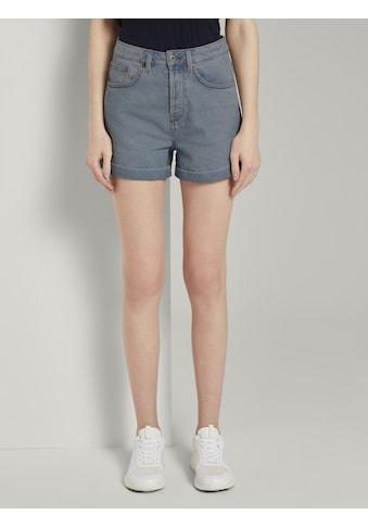 TOM TAILOR Denim Jeansshorts »Mom Fit High-Waist Jeansshorts« kaufen