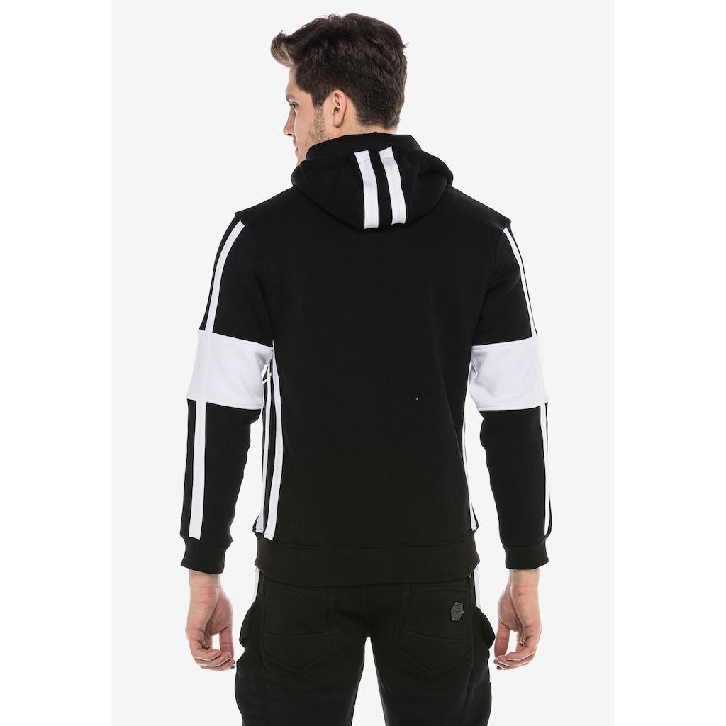 Cipo & Baxx Sweatjacke, mit trendigen Streifen