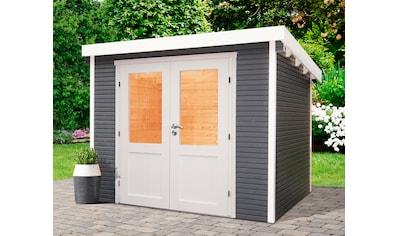 WOLFF FINNHAUS Gartenhaus »Pulti Softline 3030«, BxT: 320x342 cm, inkl. Fußboden kaufen