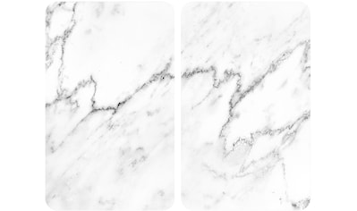 WENKO Herd-Abdeckplatte »Marmor«, (Set, 2 tlg.), für alle Herdarten kaufen