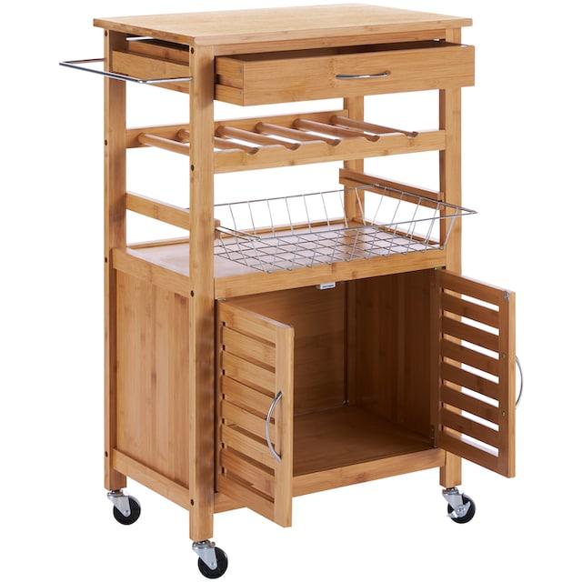 Küchenrollwagen »Bambus«, 62 x 36 x 88 cm