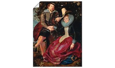 Artland Wandbild »Rubens und Frau in Geißblattlaube« kaufen