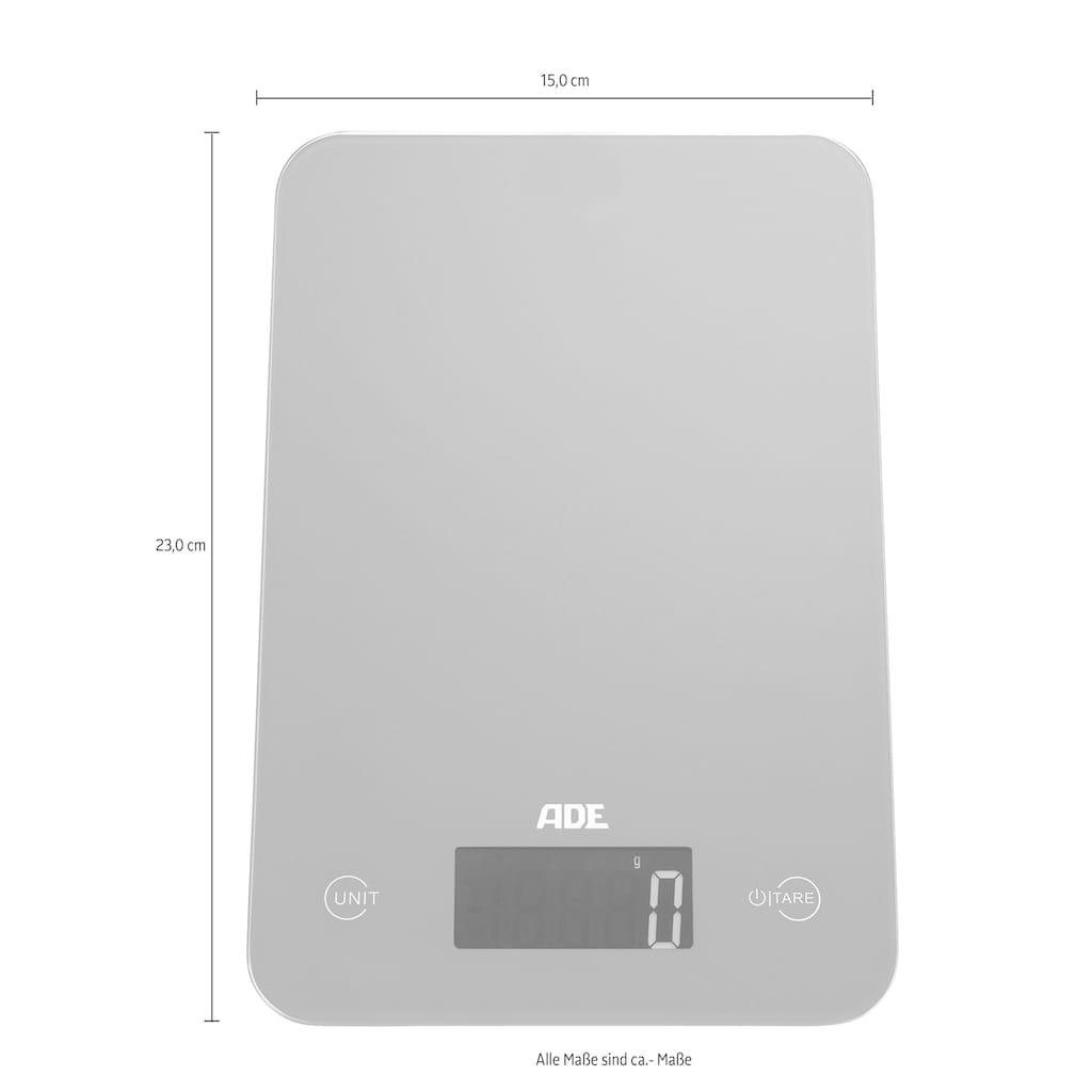 ADE Küchenwaage »KE 927 - Slim«, mit Sensor-Touch, 15 mm flach, grammgenau bis 5kg