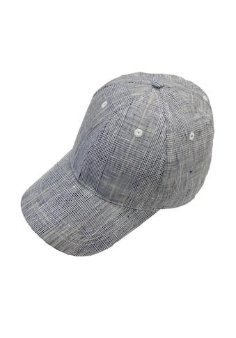 Chaplino Baseball Cap, mit dezentem Karo-Muster kaufen