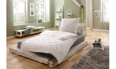 f.a.n. Schlafkomfort Naturfaserbettdecke »Argali«, leicht, Füllung Argalihaar, Bezug 100% Baumwolle, (1 St.), mit Kaschmirfeeling kaufen