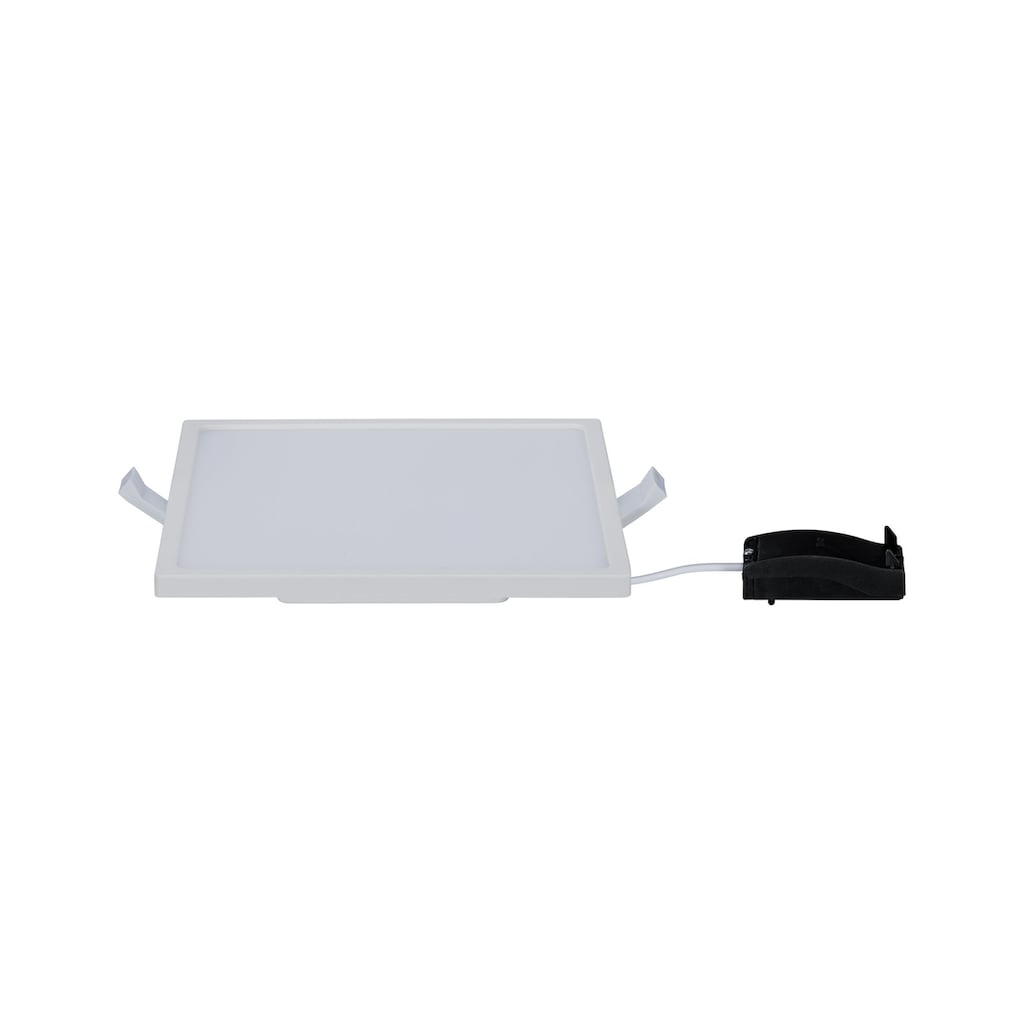 Paulmann LED Einbaustrahler »Panel Areo IP23 eckig 180x180mm 12W 3.000K Weiß matt IP23 Deckenmontage«, Warmweiß