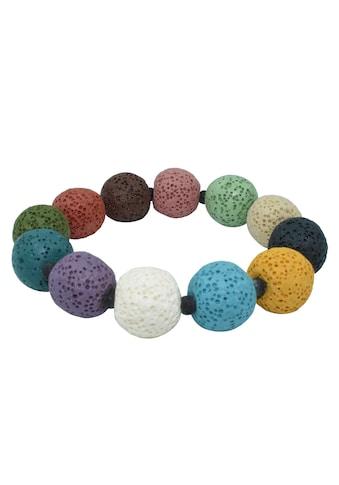 Firetti Armband »16 mm breit, bunt«, mit Lavasteinen, Made in Germany kaufen