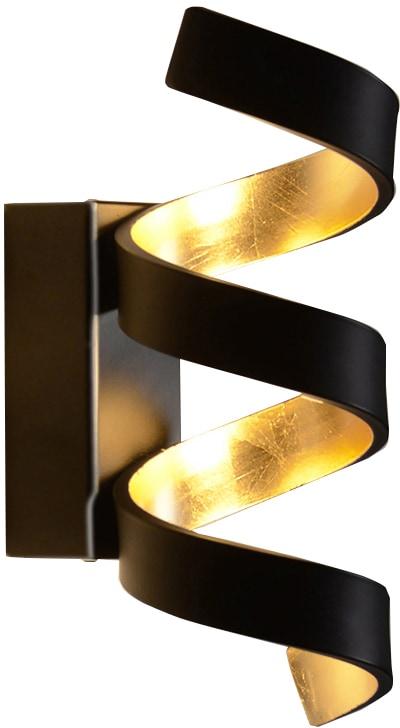LUCE Design LED Wandleuchte LED-HELIX-AP3 NER, LED-Modul, 1 St., Warmweiß
