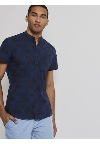 TOM TAILOR Denim Kurzarmhemd »Gemustertes Kurzarm-Hemd mit kurzem Stehkragen« kaufen