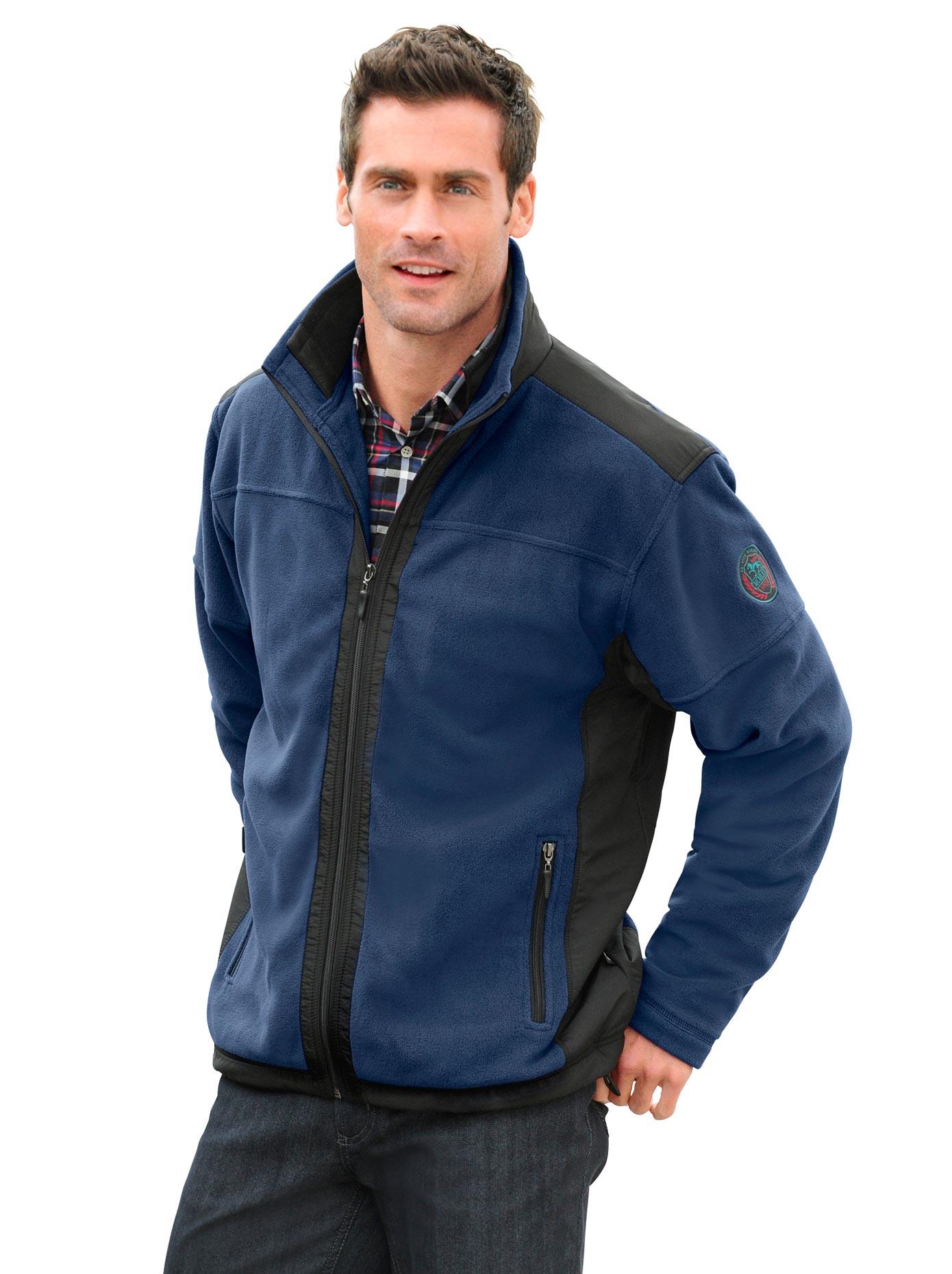 Hajo Fleece-Jacke mit doppeltem Kragen | Bekleidung > Jacken > Fleecejacken | Blau | Fleece - Polyester | Hajo