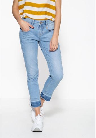 ATT Jeans 5-Pocket-Jeans »Zoe«, mit offenen Saumkanten und vorderer Passenabtrennung kaufen