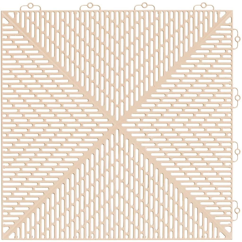 Bergo Flooring Terrassenplatten »Unique Sand«, Kunststofffliesen, einfach ineinanderstecken, 5m²