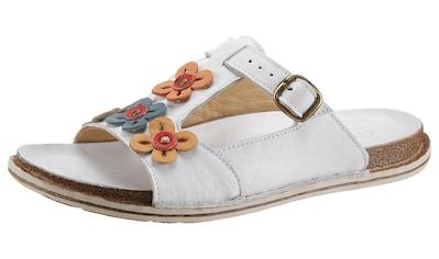 Gemini Pantolette »Crisy«, mit Blütenverzierung kaufen