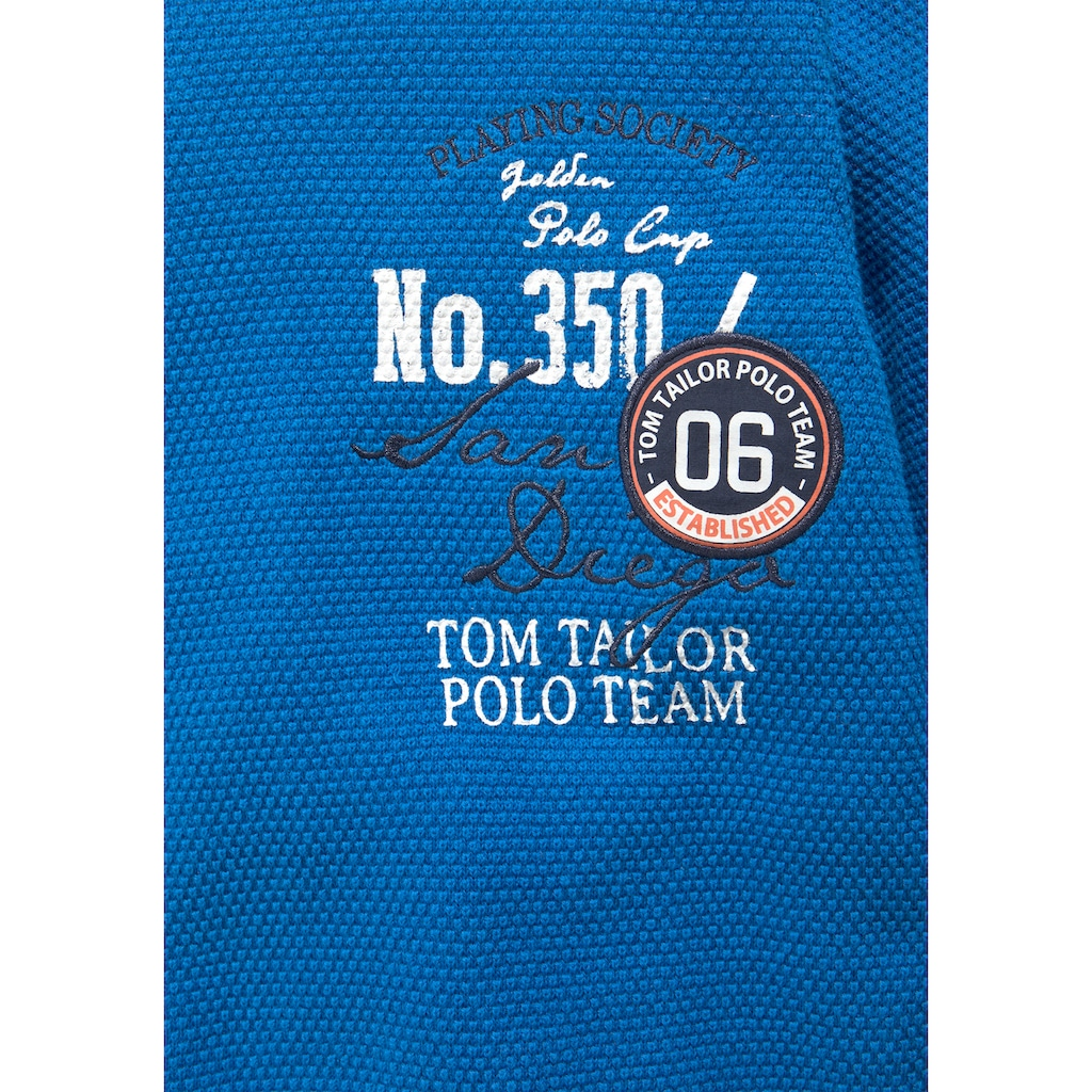 TOM TAILOR Polo Team Strickpullover, mit Druck