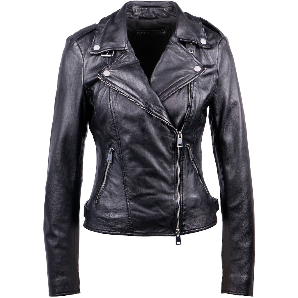 Freaky Nation Lederjacke »New Undress Me!-FN«, Bikerjacke mit coolen Zipper-Details