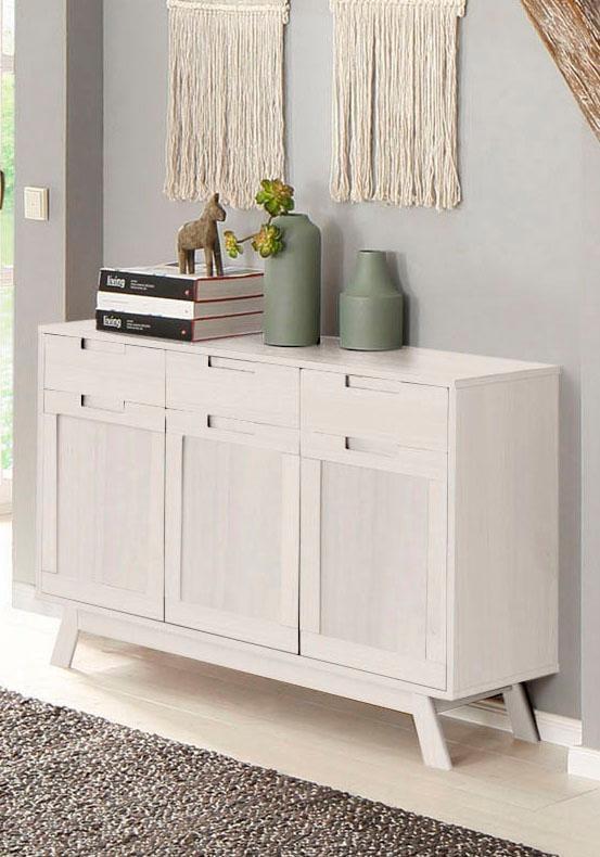 Home affaire Sideboard Ohio im traditionellem Design und vielen Stauraummöglichkeiten Breite 128 cm