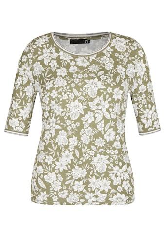 Thomas Rabe Rundhalsshirt, mit floralem Muster und halblangen Ärmeln kaufen