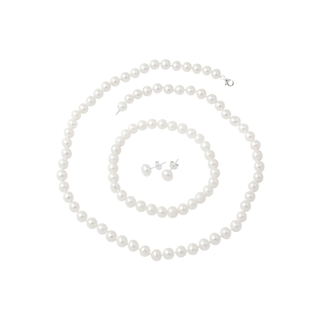Firetti Schmuckset »Kette, Armband und Paar Ohrstecker«, mit Süßwasserzuchtperlen
