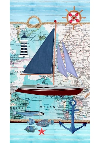 good morning Strandtuch »Aaron«, (1 St.), mit Boot kaufen