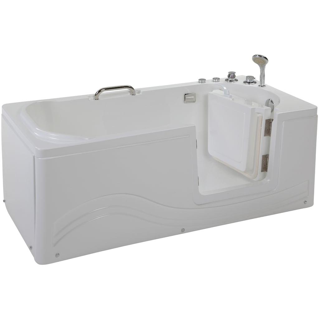 HOME DELUXE Whirlpool-Badewanne »Vital M«, liegend mit Rechtseinstieg
