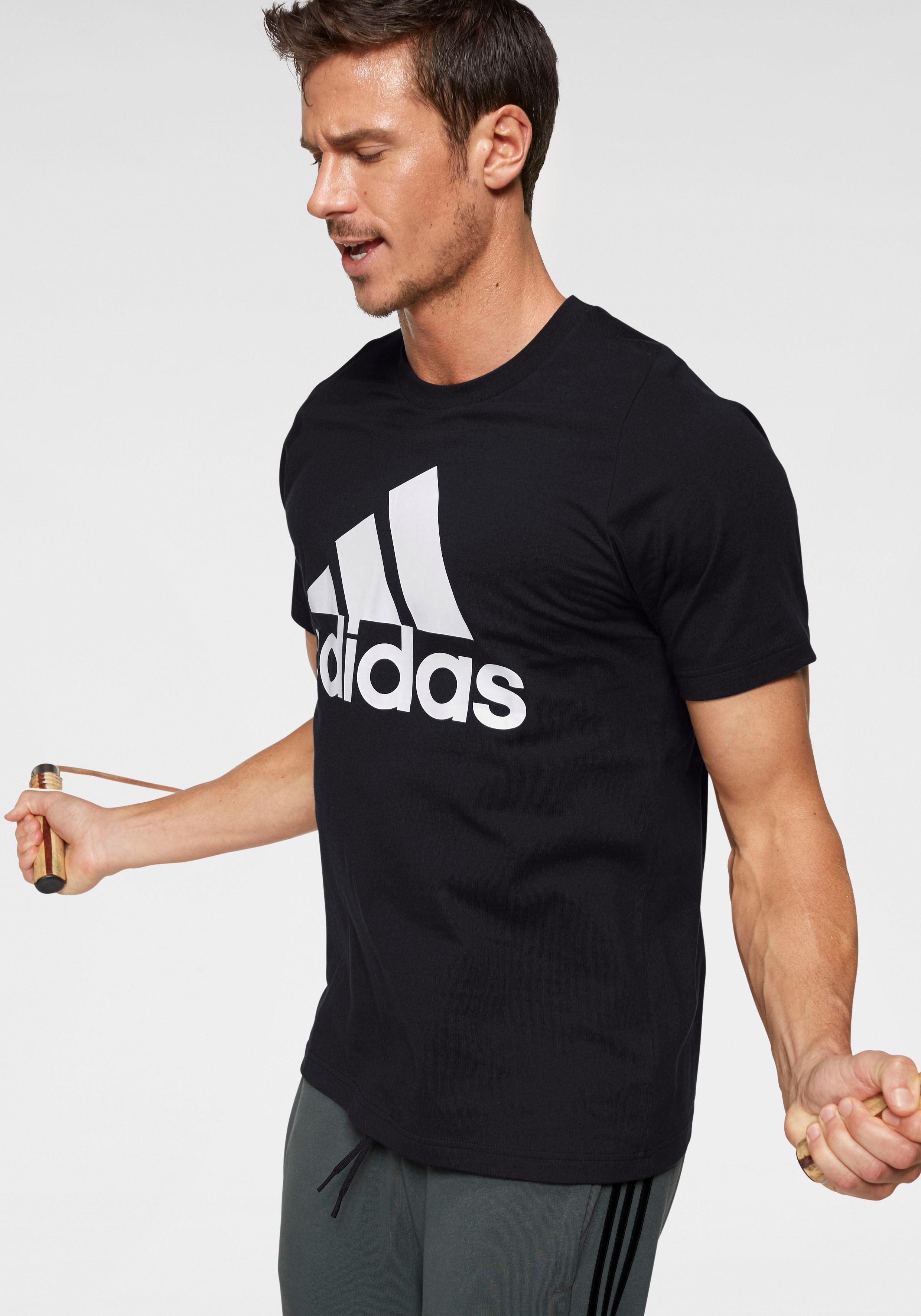 adidas Performance T-Shirt MH BATCH OF SPORTS TEE | Bekleidung > Shirts > T-Shirts | Schwarz | Adidas Performance