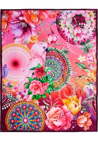 hip Plaid »Nevine«, mit Mandalas und Blumen kaufen