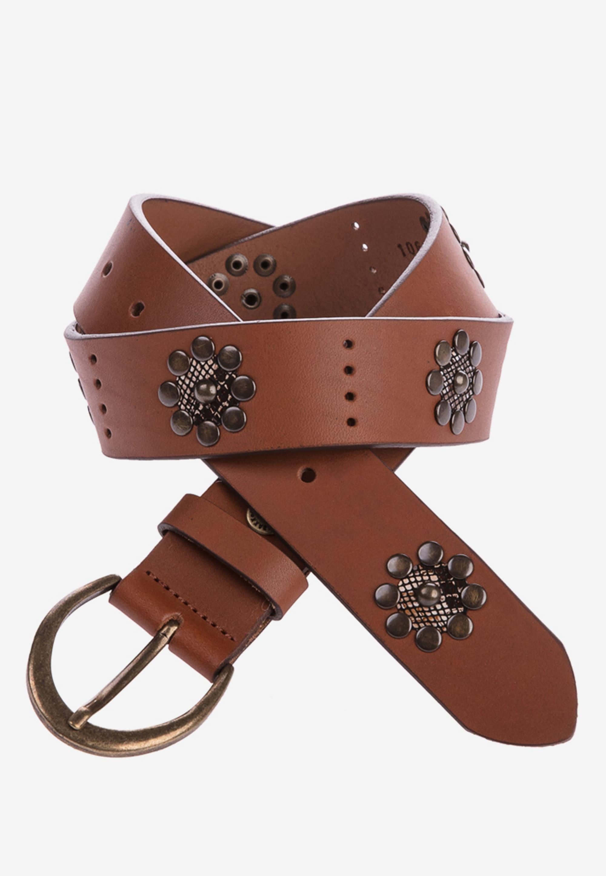 Cipo & Baxx Ledergürtel, in lässigem Design braun Damen Ledergürtel Gürtel Accessoires 4062765065706